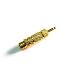 "Adattatore audio da 35mm (M) stereo a 63mm (F) All Metal 1/4"" (3.5mm) Male to 3/4"" (6.5mm) Female Jack"