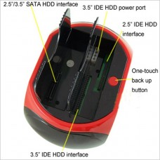 "Docking Station  Multifunzionale usb 2.0 HDD Hard Disk Supporta 2.5""   3.5"" IDE SATA WLX-875"