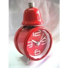 """Sveglia Classica a Batteria """"Red Bell"""" da Comodino"""