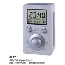 OROLOGIO SVEGLIA DA SCRIVANIA CON RADIO FM AM E TERMOMETRO INTEGRATI AE-19C