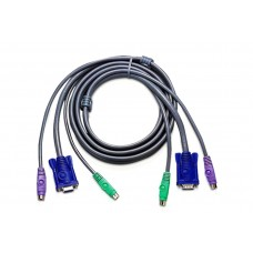 Cavo per KVM SWITCH (Tastiera Monitor Mouse) 1x VGA 2x PS2 1 5 metri