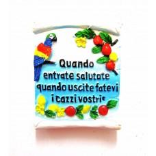 "Souvenir From Italy Napoli Magnets Calamita ""Proverbio Saluto"" Italia"