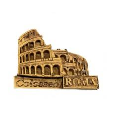 "Calamita Magnete Resina""ROMA COLOSSEO EFFETTO LEGNO""Fridge Magnet Souvenir"