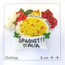 Souvenir  ITALIA Souvenir From Italy Calamita Frigo Fridge Magnets  SPAGHETTI ITALIA 5 INGREDIENTI