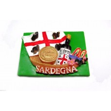 Calamita Magnete Souvenir Sardegna dei Mori . Souvenir fridge magnets Italy