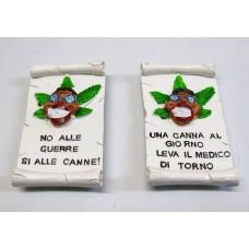 "Calamita Magnete Resina""NAPOLI DETTI POPOLARE JAMAICANO"" Fridge Magnet Souvenir"