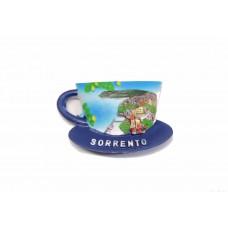 "Calamita Magnete Resina""NAPOLI SORRENTO TAZZA CAFFE"" Fridge Magnet Souvenir"