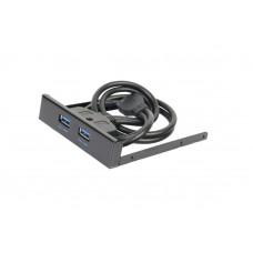 PANNELLO FLOPPY 2 PORTE USB 3.0 Cavo INTERNO IDC