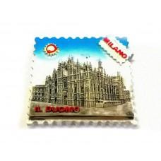 "Calamita Magnete Souvenir from Italy in Resina Milano  DUOMO ""STAMP"""