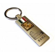 SOUVENIR PORTACHIAVI ITALIA MAPPA COLOSSEO RETTANGOLARE ITALY