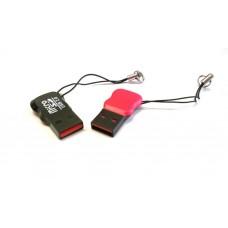"""MICRO SD TF LETTORE DI SCHEDE DI MEMORIA MICRO SD TF  USB 2.0 """"RED BOTTON"""""""