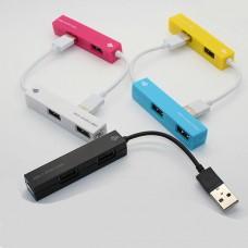 "HUB 4 PORTE USB 2.0 ""COLOR STICK"""