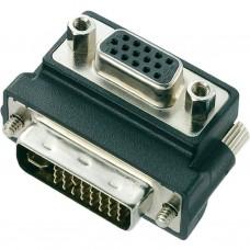 Adattatore DVI 24+5 M / VGA F A 90 GRADI