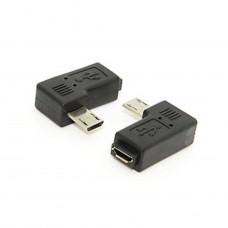 ADATTATORE ANGOLARE MICRO USB M/F