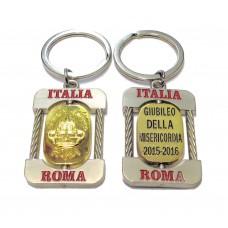 "PORTACHIAVI SOUVENIR ""VATICANO JUBILEUM GIUBILEO ROMA"";JUBILEE KEYCHAIN FROM ITALY"