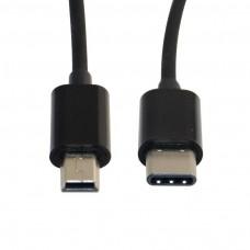 Cavo SPIRALE SPIRALATO Adattatore USB TYPE-C 3.1 M A USB MINI5P M