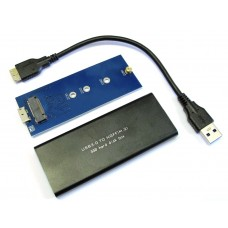 BOX CASE ENCLOSURE USB 3.0 PER SSD HDD NGFF 2230 2242 2260