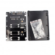 "BOX CASE ENCLOSURE SATA3 2,5"" PER Mini Pcie MSATA SSD"