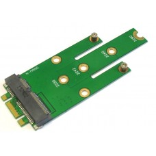 Connects NGFF B Key Solid State Drives to MSATA Mini PCI-E motherboard.