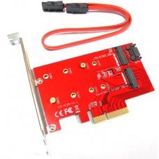 Adattatore Convertitore da NGFF M.2 B + M Key SSD 2230 2242 2260 2280 a PCI-E 4 Lane