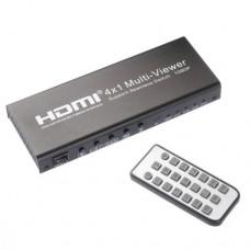 HDMI 4x1  Picture Division Multi-Viewer con Switcher Audio LPCM AC3 + Remote