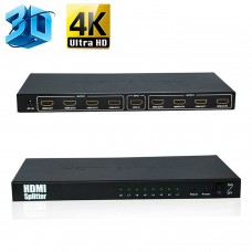4K*2K HDMI V1.4 FULL HD TV 3D 8-Way 1x8 Splitter  Digital Distribution Splitter