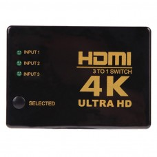 4K-2K 3 in 1 Out Port HDMI Switch Switcher Hub Splitter Ultra HD per PC HDTV