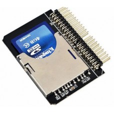 "Adattatore convertitore lettore SD SDHC MMC CARD a 2.5"" 44 Pin IDE M"