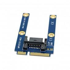 Adattatore Tester da 50mm Mini PCI-E mSATA SSD a Flat SATA 7pin Hard Disk Drive PCBA Extension
