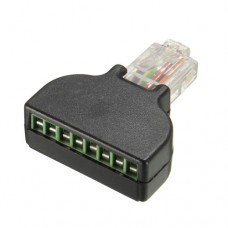 Adattatore RJ45 Ethernet M A 8 PIN AV Terminal Screw Block a Vite CCTV