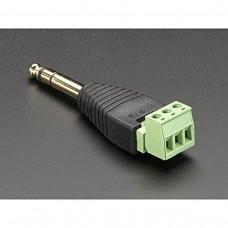 """Adattatore PCB 1/4"""" (6.35mm) Stereo Plug Terminal Block No Saldatura A VITE blocco morsetto PCB"""