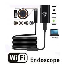 Endoscopio Wireless Telecamera Di Ispezione  WiFi 2.0 Megapixel HD Per Android e IOS Boroscopio da 1m