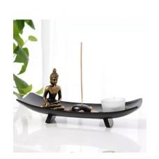 Giardino Zen con Buddha  rocce  candela  portaincenso  per Feng Shui BARCA