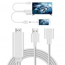 Cavo video HDMI a USB F universal compatibile iphone TYPE-C e Micro 5 PIN DELUX