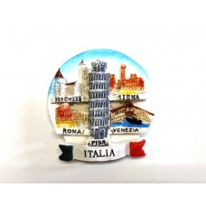 CALAMITA FRIGO SOUVENIR ITALIA TONDO MONUMENTI  FIRENZE SIENA ROMA VENEZIA PISA