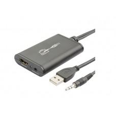 CONVERTITORE DA USB + AUDIO JACK IN A HDMI OUT- UP TO 1080P