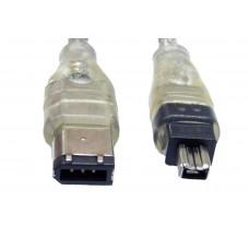 Cavo 1mt FIREWIRE da 6 a 4 pin 400 IEEE 1394 per dati pc foto Jvc Nikon mini dv ETC.