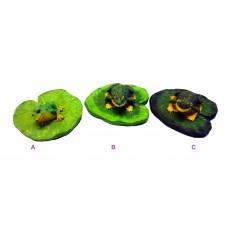 Idea Regalo simpatica Rana galleggiante su foglia di Loto da giardino o acquario