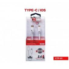CAVO ADATTATORE DA USB TYPE-C TIPO C A  IPHONE COMPATIBILE PD CARICA-DATI