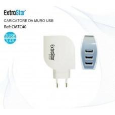 Caricabatterie Alimentatore Presa da Casa Universale 5V 3.4A Tripla 3 USB