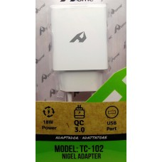 ALIMENTATORE CARICATORE VELOCE USB QC 3.0 PER SMARTPHONE & TABLET FAST CHARGER
