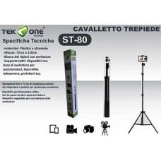 TREPPIEDE CAVALLETTO TRIPODE REGOLABILE SUPPORTO SMARTPHONE REFLEX TERMOSCANNER ETC
