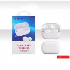 Cuffie Auricolari Stereo M8 TWS Bluetooth Wireless 5.0 iOS Android Bianco o Nero