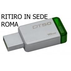 Pen Drive Kingston Memory Flash USB 3.0 DT50/16GB 3.1 16GB Chiavetta USB
