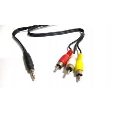 Cavo Video Adattatore da Jack a RCA 110cm compatibile Case recorder DVR 2.5 SATA