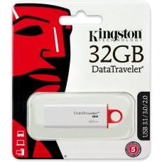 Kingston Datatraveler G4 DTIG4/32GB PenDrive, USB 3.0, 32 GB, Bianco/Rosso