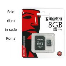MICRO SD KINGSTON CLASSE 4 MICROSD+ADAPTER MEMORY CARD 8GB SCHEDA TRANSFLASH