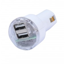 CARICATORE 2 PORTE USB DA AUTO PER IPAD E IPHONE4 DA 2.1A e 1A
