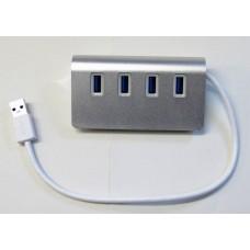 Hub USB 3.0 in alluminio PC Macbook 4 porte potenti Super Speed 5gBPS