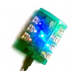 HUB MOLTIPLICATORE USB 2.0  7 PORTE PER PC CON LUCI COLORATE